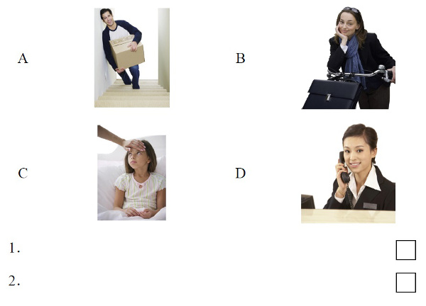 HSK 3 Listening Part 1 (Source: China Education Center Mock Test HSK 3)
